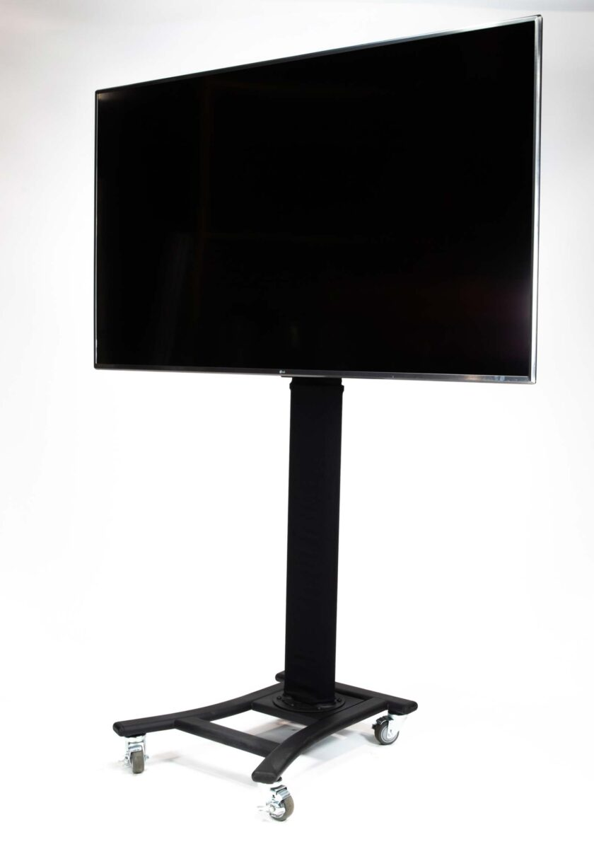 Black Rolling Stand with Sleeve TV